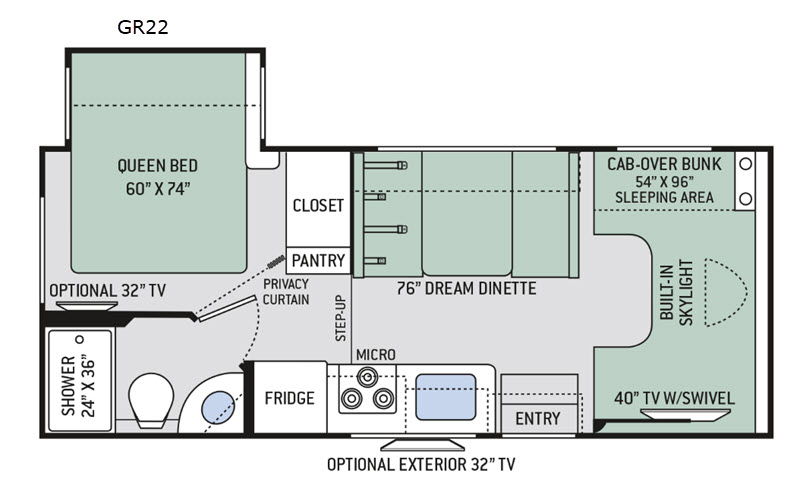 New 2020 Thor Motor Coach Quantum GR22 Motor Home Cl C at ... Damon Motorhome Wiring Diagrams Lights Bedroom on