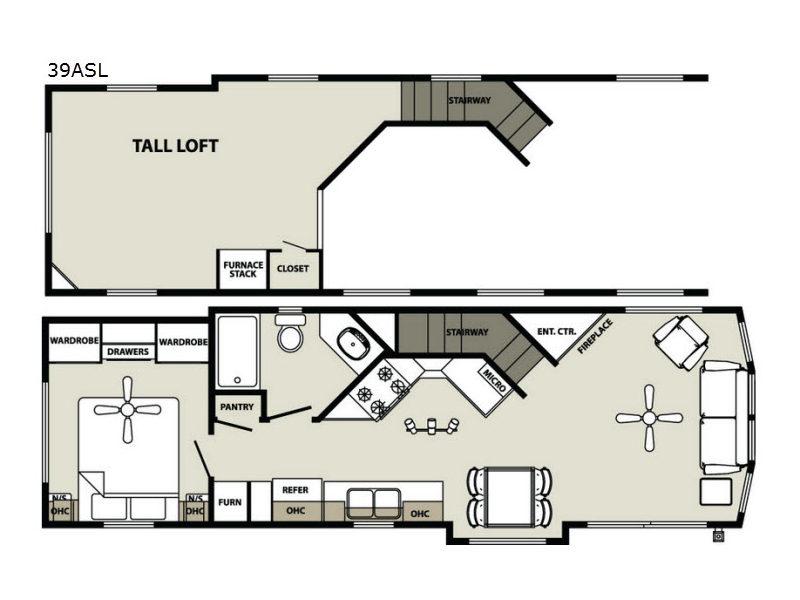 Quailridge Holiday Cottages 39ASL Loft | Park Models