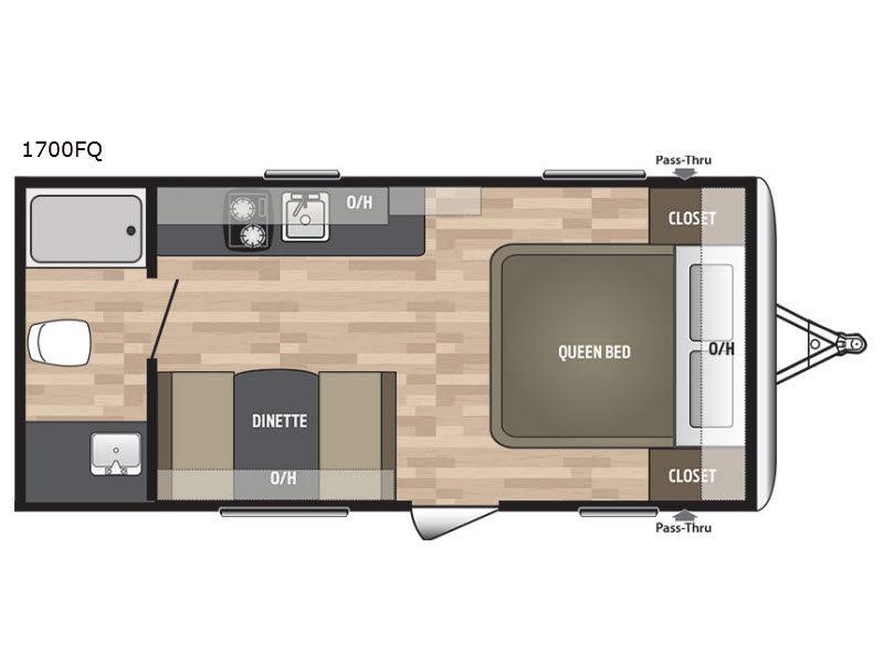 Summerland Mini 1700FQ – Rear Bedroom Travel Trailer Floor Plans