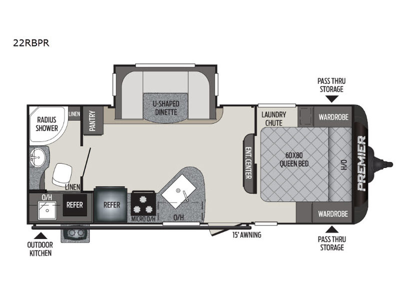 New 2020 Keystone RV Premier Ultra Lite 22RBPR Travel ...