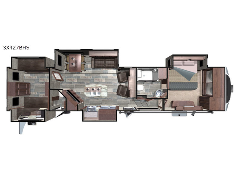 Open Range 3X 427BHS | Fifth Wheel