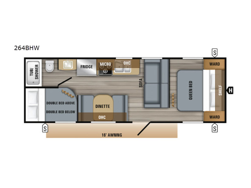 New 2019 Jayco Jay Flight SLX Western Edition 264BHW Travel ... Jayco Wiring Schematics Awning Lights on