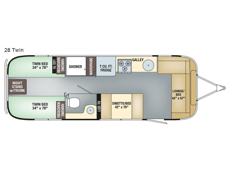 New 2018 Airstream RV Flying Cloud 28 Twin Travel Trailer at Bill