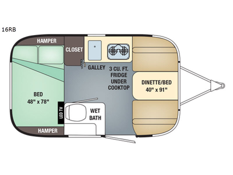 Used 2018 Airstream RV Sport 16RB Travel Trailer at Bill