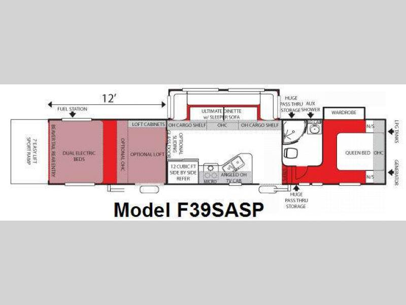 2009 Forest River RV Sandstorm F39SASP Double Slide Sandstorm Toy Hauler Fifth Wheel Rear Cargo 1