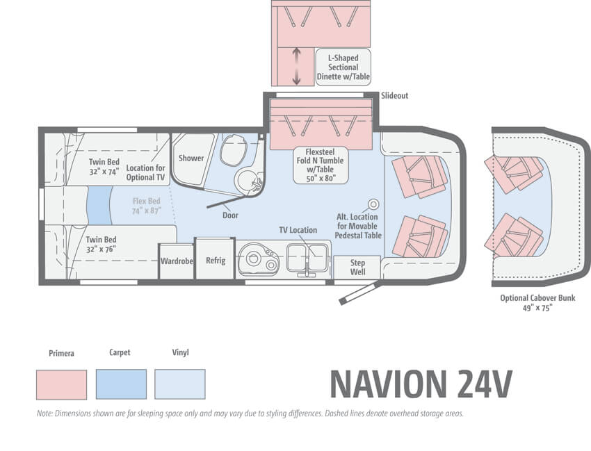 Itasca Navion 24V Floorplan