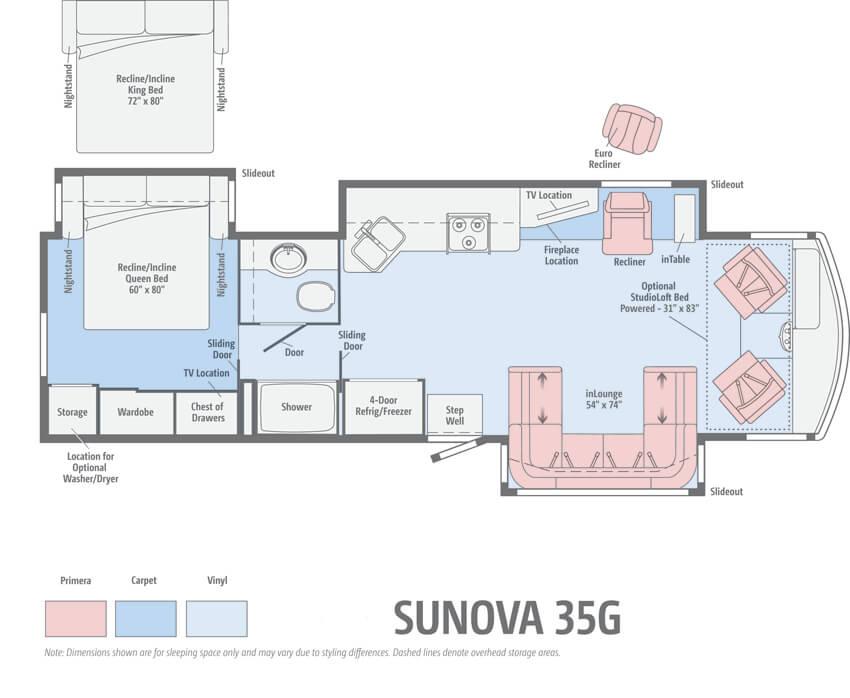 Itasca Sunova 35G Floorplan