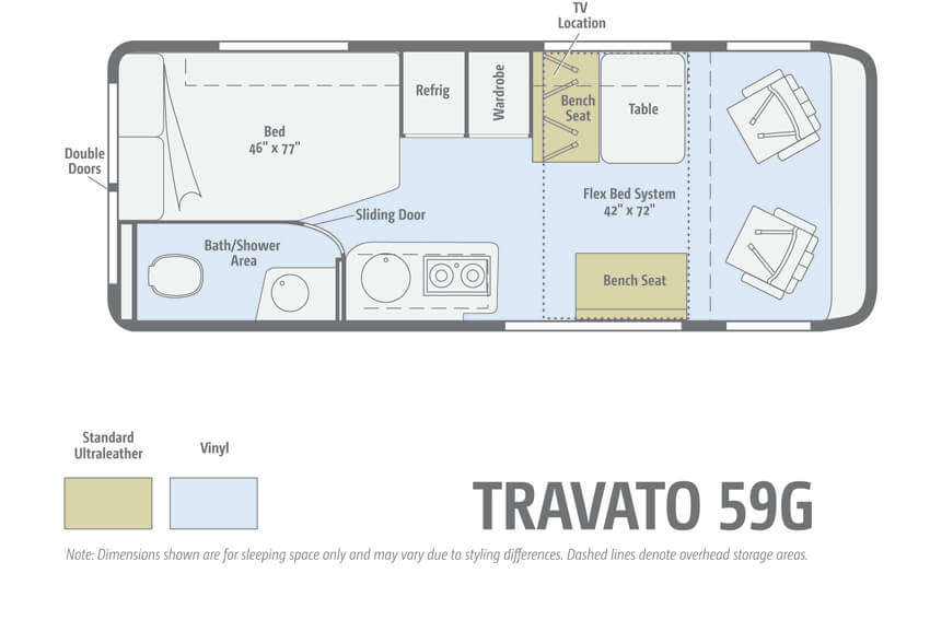 Winnebago Travato 59G Floorplan