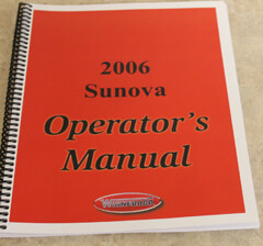 2006 Winnebago Itasca Sunova Operator's Manual