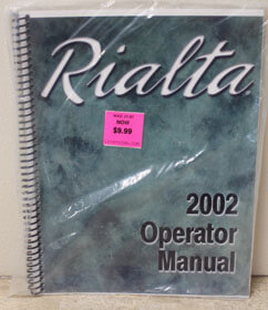 2002 Winnebago Rialta Operator Manual