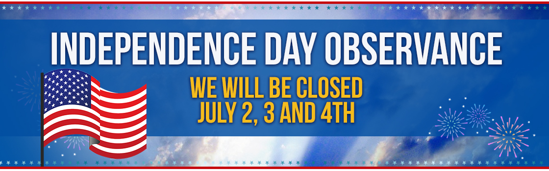Happy 4th We Will Be Closed