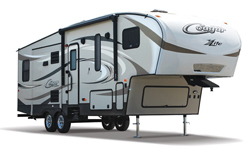 keystone cougar x-lite fifth wheel, picture of the exterior of a keystone cougar x-lite fifth wheel