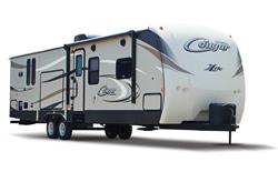 keystone cougar x-lite travel trailer, picture of the exterior of a keystone cougar x-lite travel trailer