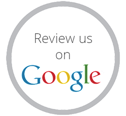 review us on google, icon that says review us on google