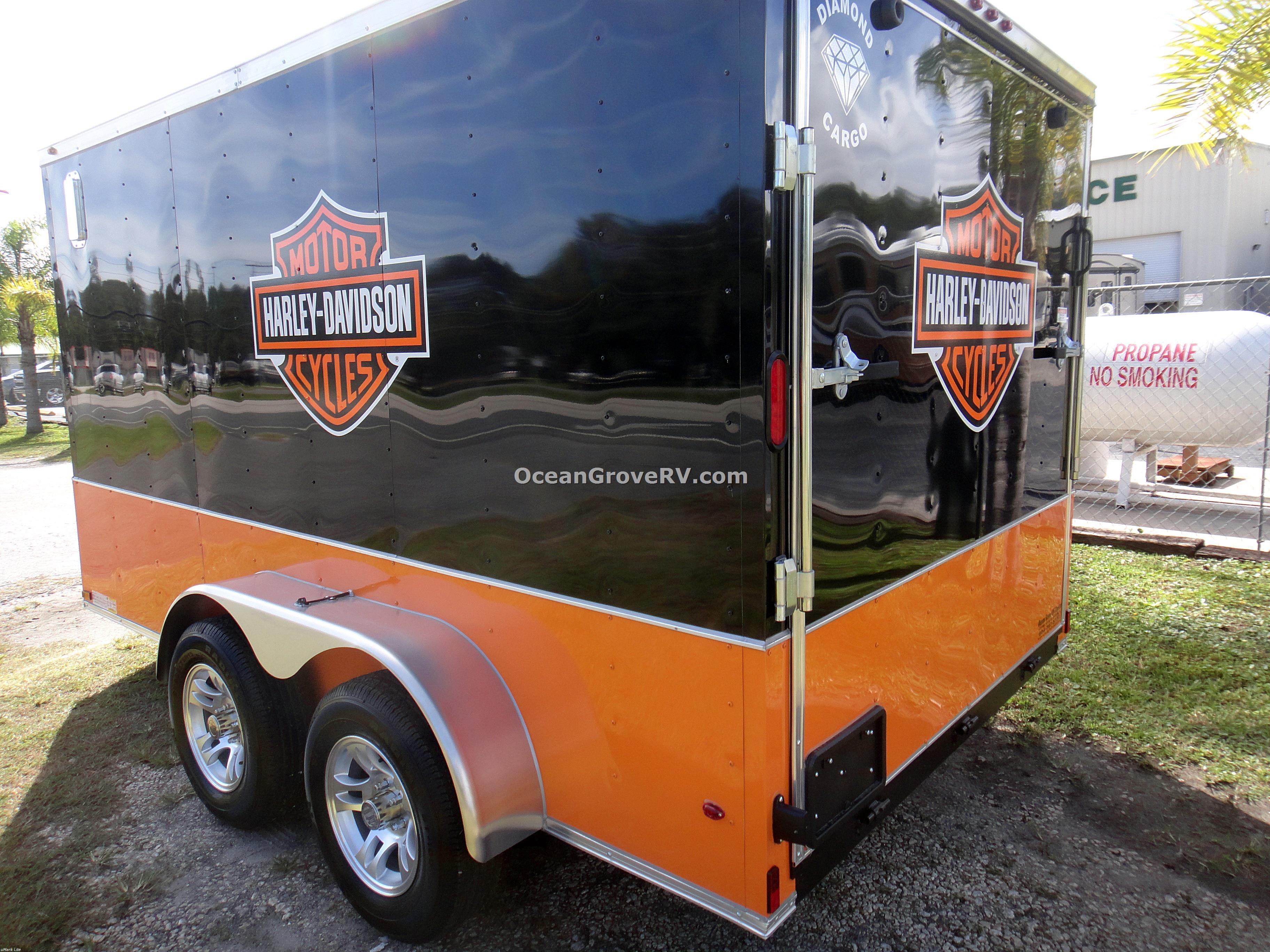 New 2016 Diamond Cargo Ramp Door 7x12 HARLEY MC Trailer Photo