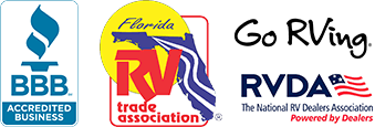 BBB Accredited business - Florida RV Trade Association - logos
