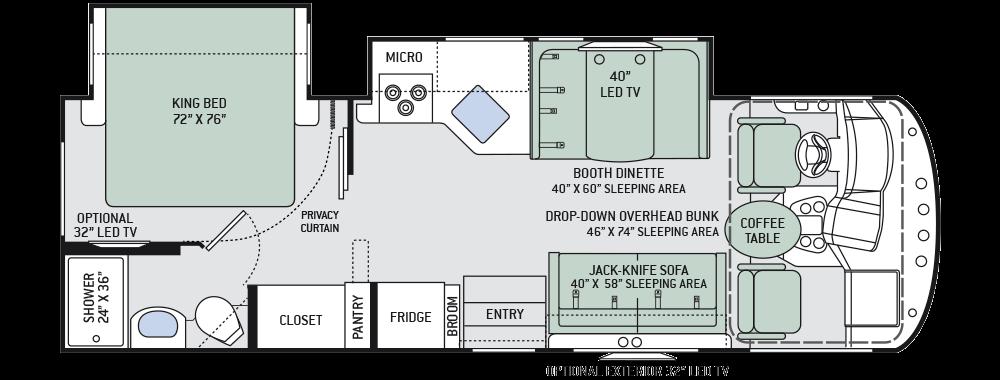 29 foot motorhome floorplan