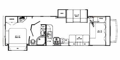 Gulfstream Conquest C63110 Rental RV Floor Plan