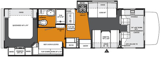2013 3171DS Interior Floorplan
