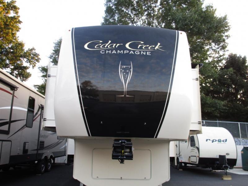 New 2019 Forest River RV Cedar Creek Champagne Edition 38EFK Fifth