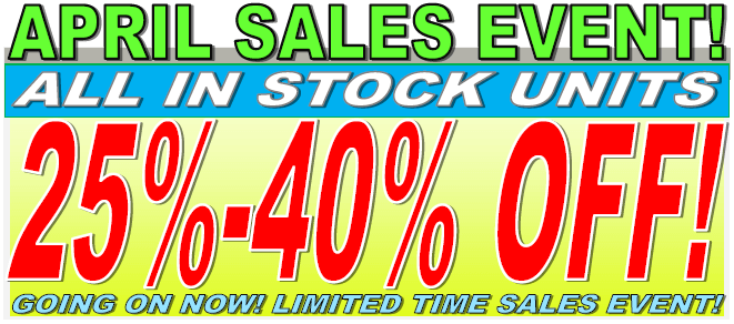 April RV Sales Event 25%-40% Off In Stock RVs For Sale