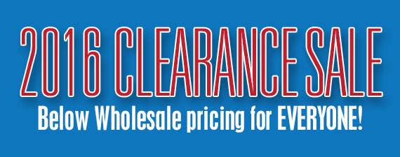 2016 RV Clearance