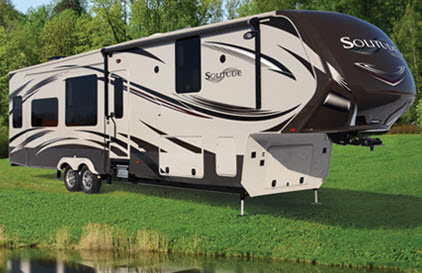 the solitude fifth wheels rv is the most spacious comfortable extended