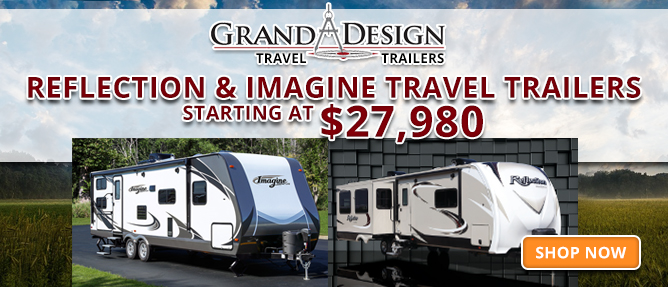 Reflection and Imagine Travel Trailers