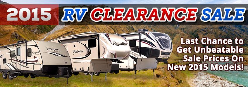 2015 RV Clearance Sale